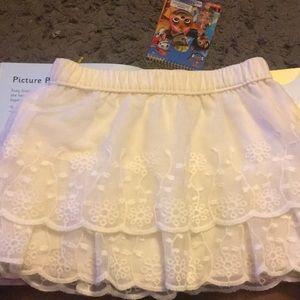 White tiered baby skirt